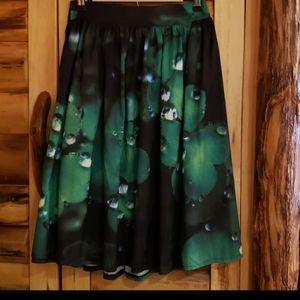 Dew drops at midnight pleated midi skirt